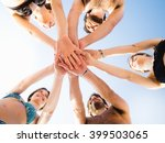 friends together at the beach | Shutterstock . vector #399503065