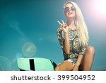high fashion look.glamor... | Shutterstock . vector #399504952