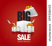 big sale card red background | Shutterstock .eps vector #399508435