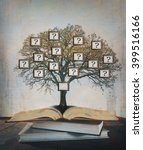 family tree  genealogy. | Shutterstock . vector #399516166
