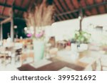 abstract blur restaurant... | Shutterstock . vector #399521692