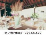 abstract blur restaurant... | Shutterstock . vector #399521692