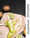 homemade kiwi ice cream on a... | Shutterstock . vector #399523402