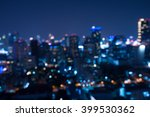 abstract urban night light... | Shutterstock . vector #399530362