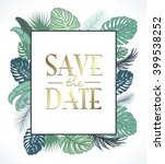 tropical foliage frame template | Shutterstock .eps vector #399538252