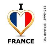 i love france | Shutterstock .eps vector #39954166