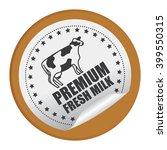 brown circle premium fresh milk ...   Shutterstock . vector #399550315
