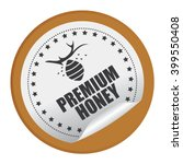 brown circle premium honey... | Shutterstock . vector #399550408