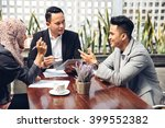 business people technology and... | Shutterstock . vector #399552382