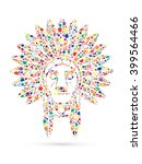 native american indian chief  ... | Shutterstock .eps vector #399564466