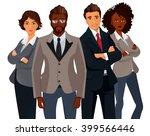 international business people... | Shutterstock . vector #399566446