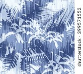 tropical jungle foliage pattern ... | Shutterstock .eps vector #399571552