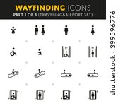 vector wayfinding icons...