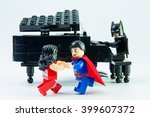 Постер, плакат: LEGO minifigure Batman Superman and
