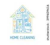 house cleaning vector concept.... | Shutterstock .eps vector #399609616