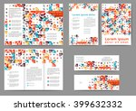 set of colored abstract... | Shutterstock .eps vector #399632332