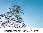 electricity transmission power... | Shutterstock . vector #399673195