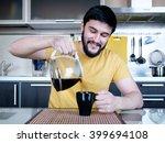 funny cooking. attractive... | Shutterstock . vector #399694108