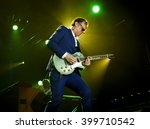 BYRON BAY, AUSTRALIA - MARCH 26 : Joe Bonamassa plays on the Crossroads stage at the 2016 Byron Bay Bluesfest. 27th annual Blues and Roots festival. - stock photo