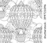 hand drawn doodle outline  air... | Shutterstock . vector #399721096