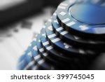 poker chips stock photo high... | Shutterstock . vector #399745045