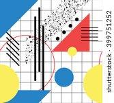 seamless geometric pattern in... | Shutterstock .eps vector #399751252