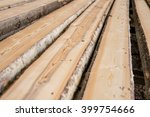 At Sawmill. Image Of Wooden...