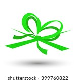 green bow isolated on white...   Shutterstock . vector #399760822