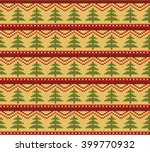 knitted design pattern.... | Shutterstock .eps vector #399770932