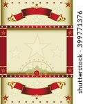 poster cream circus with... | Shutterstock .eps vector #399771376