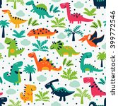 vector seamless pattern with... | Shutterstock .eps vector #399772546
