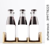 Six Wine Bottles With Wide Nec...