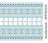 set of ethnic ornament pattern... | Shutterstock .eps vector #399781015