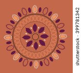 round vector ornament mandala.... | Shutterstock .eps vector #399781342