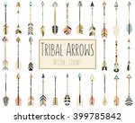 tribal arrows vector in coral ... | Shutterstock .eps vector #399785842