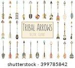 tribal arrows vector in coral ... | Shutterstock .eps vector #399785842