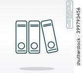archives folder line icon | Shutterstock .eps vector #399793456