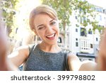 portrait of beautiful teenager... | Shutterstock . vector #399798802
