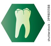 tooth icon  | Shutterstock .eps vector #399805588