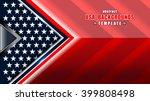american flag backgrounds... | Shutterstock .eps vector #399808498