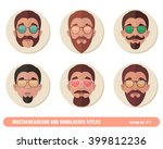 mustache and beard and... | Shutterstock .eps vector #399812236