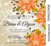 wedding card or invitation with ... | Shutterstock .eps vector #399815908