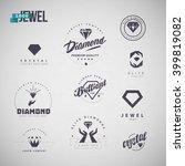 vector flat jewelry logo... | Shutterstock .eps vector #399819082