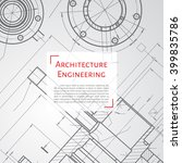vector technical blueprint of ... | Shutterstock .eps vector #399835786