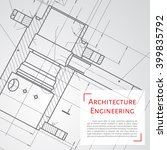vector technical blueprint of ... | Shutterstock .eps vector #399835792