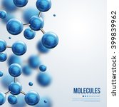 abstract molecules design.... | Shutterstock .eps vector #399839962