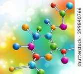 Abstract Multicolor Molecule....