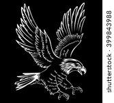 Bald Eagle Silhouette Isolated...