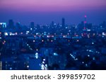 abstract urban night light... | Shutterstock . vector #399859702