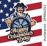 happy columbus day. vector... | Shutterstock .eps vector #399862312